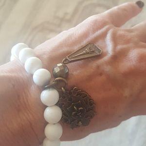 French Kande White Turquoise bracelet